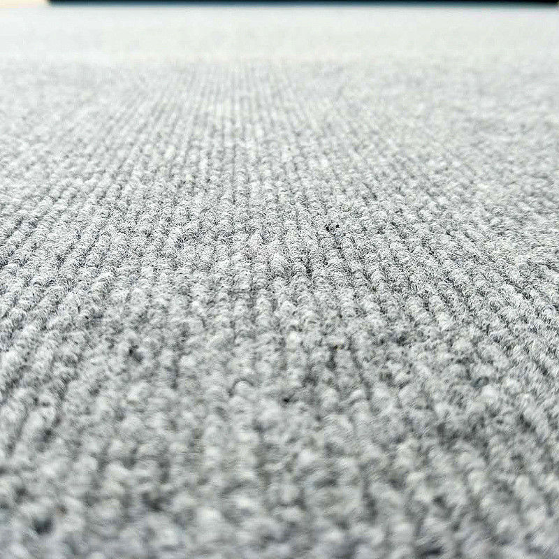 350gsm Needle Punch Nonwoven Ribbed Synthetic Carpet Tiles