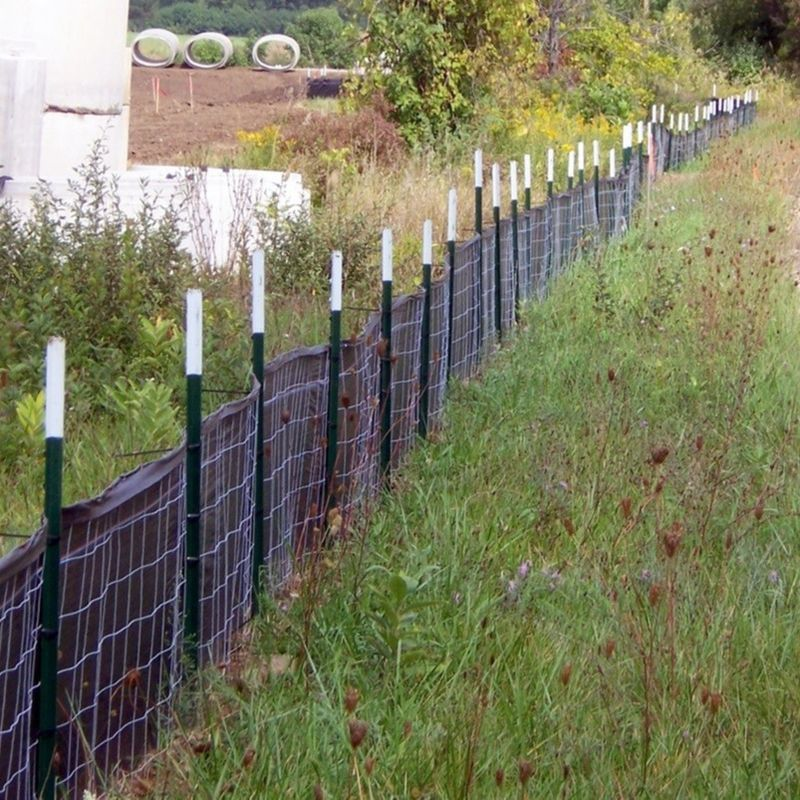 Wire Backed Composite Geotextile Silt Fence Fabric