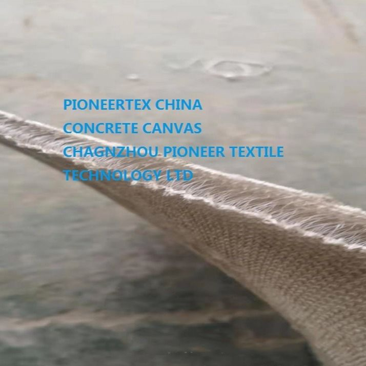 Permanent Erosion Control Cementitious Cloth, Concrete Canvas for Slope Protection and ditch lining